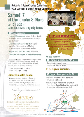 Programme Caves Vouvray portes ouvertes mars 2020